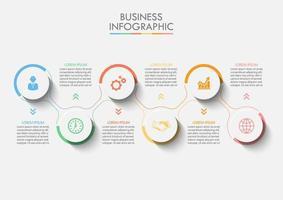 Modèle d'infographie de présentation Business road map vecteur