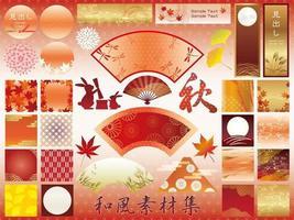 Ensemble d'éléments graphiques japonais assortis