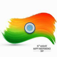 Fête de l'indépendance de l'Inde belle vague drapeau indien