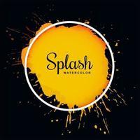 Encadrement aquarelle grunge splash orange