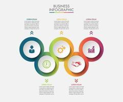 Modèle d'infographie Business Concept