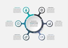 Modèle de visualisation de données Business Circle vecteur