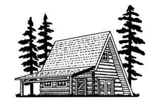 Un cadre Lodge vecteur