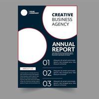 Modèle d'affaires de rapport annuel créatif de cercle vecteur