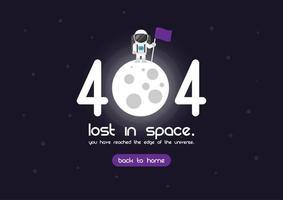 Page d'erreur 404 vecteur