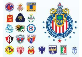 Logos de football mexicains vecteur