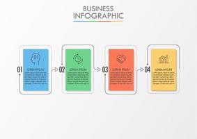 Modèle d'infographie de présentation entreprise vecteur