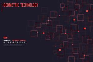 Modèle technologique systématique de carré rouge vecteur