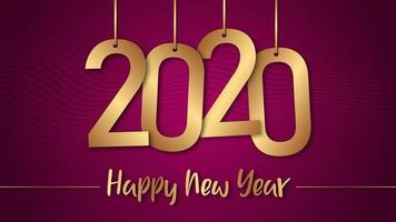 Fond de bonne année 2020 vecteur