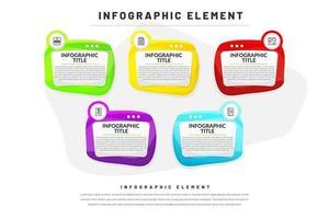 Éléments d'infographie commerciale vecteur