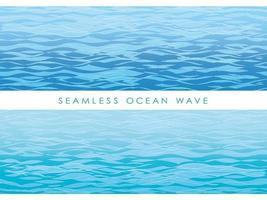 Ensemble de modèles de vagues sans soudure. vecteur