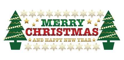 Emblème de Noël ou étiquette isolé sur fond blanc vecteur