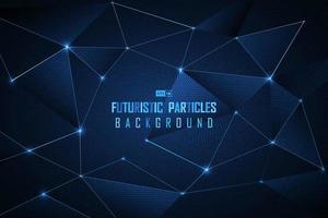 Fond de particules futuristes de point bleu vecteur