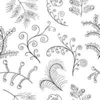 Symboles rustiques floraux noirs vecteur