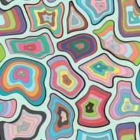 couleur motif concentrique à rayures.