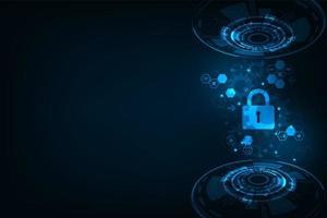 Concept de système de sécurité numérique sécurisé vecteur
