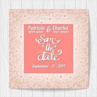Carte d'invitation de mariage avec motif de fleurs vecteur