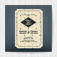 Carte d'invitation de mariage avec thème de luxe vecteur