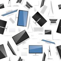Modèle sans couture de collection informatique