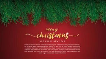 Carte de voeux joyeux Noël. vecteur