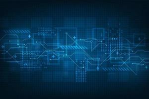 Afficheur numérique de technologie abstraite futuriste vecteur