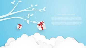 Carte de voeux anniversaire Noël vecteur