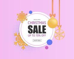 Bannière de promotion de vente de Noël vecteur