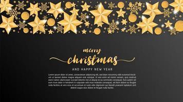 Carte de joyeux Noël en papier coupé style fond
