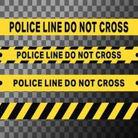 La ligne de police ne traverse pas les bandes vecteur