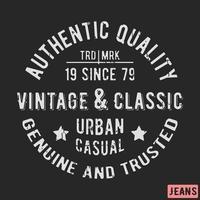 Timbre vintage classique