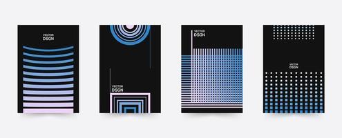 Ensemble de modèles d'affiches géométriques