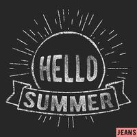 Timbre vintage de l'été