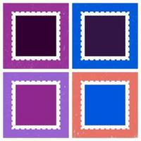 Modèle de timbre-poste coloré