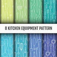 Ensemble de modèles d'outils de cuisine sans soudure