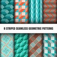 Ensemble de motifs géométriques sans soudure vecteur