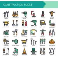 Outils de construction Thin Line et Pixel Perfect Icons vecteur