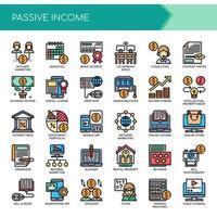 Passive Income, Thin Line et Pixel Perfect Icons vecteur