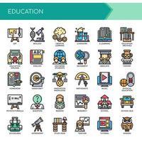 Education Thin Line et Pixel Perfect Icons vecteur