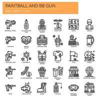 Paintball et BB Gun, Thin Line et Pixel Perfect Icons vecteur