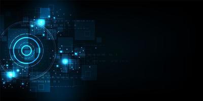 Abstrait rond d'affichage numérique de technologie