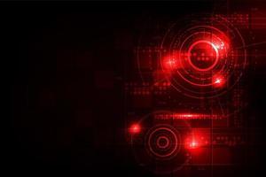 Concept de technologie numérique rougeoyante rouge vecteur