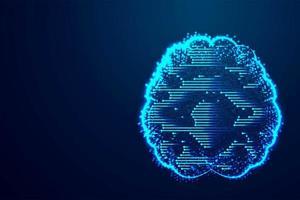 Technologie du cerveau numérique vecteur