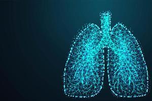 low poly fabrication de poumons humains vecteur