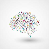 Conception de cerveau de connexion de point de technologie vecteur