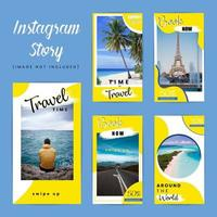 Pack de voyage instagram spécial vecteur