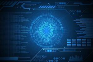 Conception numérique hud bleu brillant vecteur