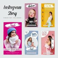 Modèle de médias sociaux Instagram Stories vecteur