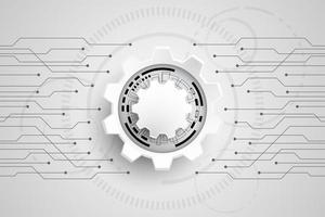 Concept de technologie noir et blanc vecteur