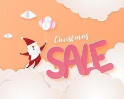 Fond de bannière de promotion de vente de Noël vecteur