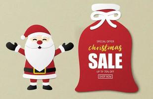 Conception de bannière de vente de Noël